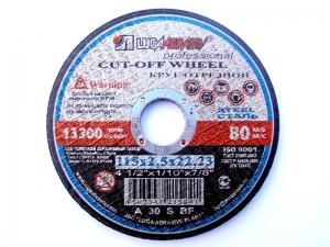 Круг отрезной по металлу Луга-Абразив 115x2.5x22