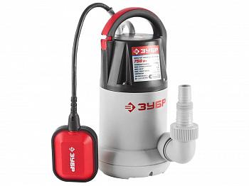 Дренажный насос для чистой воды Зубр ЗНПЧ-750