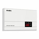 Стабилизатор напряжения SVEN AVR SLIM-500 LCD белый