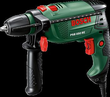 Ударная дрель Bosch PSB 650 RE (БЗП)