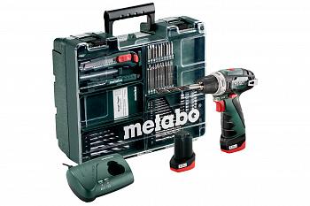 Аккумуляторная дрель-шуруповерт Metabo PowerMaxx BS Basic Set 600080880